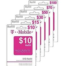 TMobile $200 Prepaid Refill Card/ Air Time/Reload/Topup/PIN/Recharge/Direct