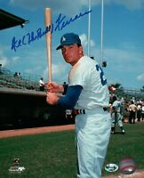 Al (The Bull) Ferrara Signed 8X10 Photo Autograph Dodgers Pose w/ Bat Left COA