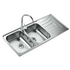 Teka 2 Becken Doppelspüle Edelstahl Küchenspüle Einbauspüle Küchen Spülbecken CN