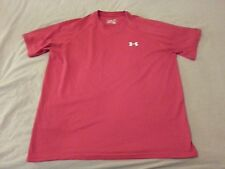 Mens Under Armour Shirt L Large Red Athletic