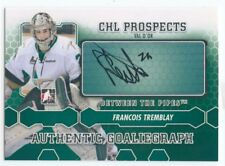 12/13 BETWEEN THE PIPES GOALIEGRAPH AUTOGRAPH AUTO FRANCOIS TREMBLAY *49800