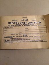 PROFESSIONAL DRIVERS TRIPLICATE DAILY LOG BOOK 31 SHEETS 6K 680