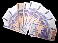 10 x Zimbabwe 10 Billion Dollar banknotes-2008/AA&AB/DAMAGED CONDITION