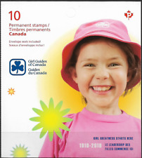 Canada Stamps - Booklet pane of 10P - Girl Guides of Canada #2402a (Bk433) - Mnh