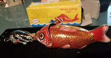 WHALE EATING FISH Collectible Mechanical Tin Toy Retro Vintage Style Metal Litho