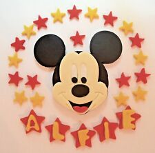 Edible Mickey Mouse Cake Topper Birthday Stars Icing Personalised unofficial