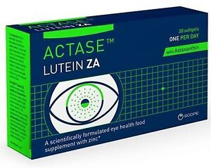 Actase Lutein ZA Eye Health Food Supplement with Zinc x 30 Softgels