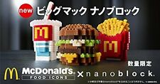 Kawada nanoblock McDonald's Japan Limited edition collector Bigmac Potato Drink