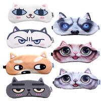 Masque de Sommeil d'animal Repos Masque de Nuit Masques pour les yeux Souple