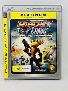 Ratchet & Clank Tools Of Destruction Platinum Sony PlayStation 3 - WITH MANUAL