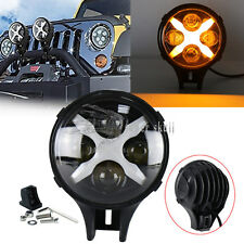 "Xprite 6"" 60W Round LED Spot Light Amber X DRL Turn Signal Off-road Jeep ATV SUV"