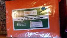 Vintage oldstock original pack Gay Nights 1970's orange sheets bedding set 4'6 ""