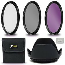 Xtech 67mm Filter Kit + 67mm Lens Hood f/ Nikon D3400 D3300 D3200 D3100