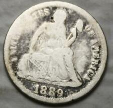 United States 1889-P Silver Dime, Seated Liberty