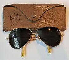 940a5c29b5 Vintage Bauch Lomb B L Ray Ban G-15 USA 1 10 12K GF Aviator Sunglasses