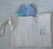 Good Choice Waterproof Silicone Baby Bibs & Baby Spoons Roll Travel Bag Homeout