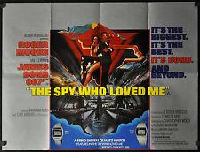 SPY WHO LOVED ME 1977 ORIG BRITISH QUAD MOVIE POSTER 30X40 007 BOND ROGER MOORE
