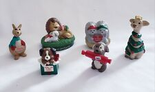 Lot of 6 Hallmark Merry Miniatures Includes Christmas Giraffe in Garland