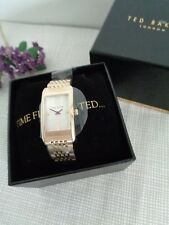BNWT Ted Baker Ladies Gold Stainless Steel Bracelet Strap Watch 10031189