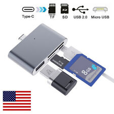 Type C to USB/Micro/Read TF/SD Memory Card Reader OTG Adapter Extender Converter