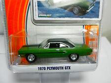 1:64 GreenLight *GL MUSCLE R12* Green 1970 Plymouth GTX  *NIP*