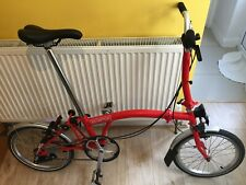 Brompton M3L December 2017, red, showroom condition. Global shipping.