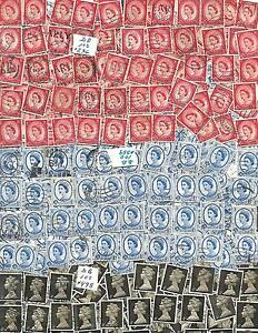 GREAT BRITAIN collect of 300 stamps SC # 296, #359, 498,3  BUNDLES of 100  used