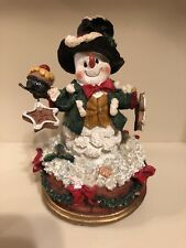 frosty the snowman music box ceramic sparkly snow winter holiday Christmas