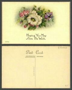 VINTAGE POSTCARD TOPIC: Get Well