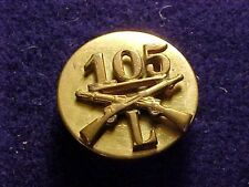 ORIGINAL WWII 27TH DIVISION 105TH INFANTRY REGIMENT CO.L COLLAR DISK