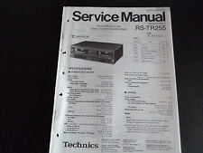 Original Service Manual Technics Cassette Deck RS-TR  255