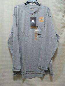 Ariat Men's Rebar Pocket Long Sleeve Henley Shirt - Heather Gray - Size 2XL-Tall