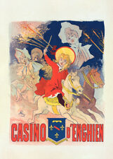 Casino d'Enghien by Jules Cheret 90cm x 64cm Art Paper Print