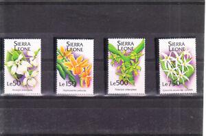 SIERRA LEONE 1994 ORCHIDS SET MNH  VF