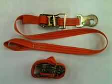 4X Motorcycle Tie down straps Ratchets with Snap hooks & Loops Trailer recovery