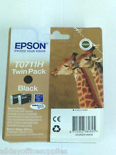 Epson Original T0711H High Capacity Black Ink Cartridge TWIN PACK GENUINE TO711H