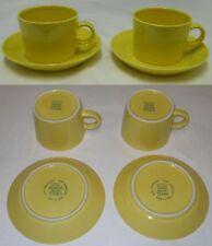 Kaj Franck Vintage Yellow Teema 2 Cups & 2 Saucers Iittala Arabia Finland