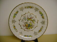 WOOD & SONS DECORATIVE ALPINE WHITE PLATE WITH FRUIT
