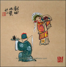 Oriental Asian Chinese Figure Painting - Chinese Opera