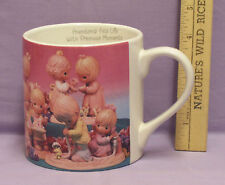 Precious Moments Lrg Mug With 14 Pictures Of Pm Figures