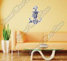 """Pirate Anchor Skeleton Skull Crossbones Wall Sticker Room Interior Decor 20""""X25"""""""