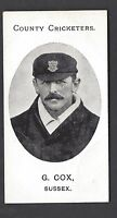 TADDY - COUNTY CRICKETERS - G COX, SUSSEX