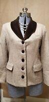 INCREDIBLE FIND VINTAGE Tweed Wool Blend & Velvet Schoolboy Riding Blazer Jacket