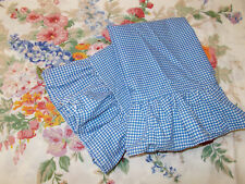2 Ralph Lauren Blue White Gingham Ruffled S Pillowcases Gwen Beach House Melissa