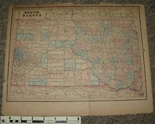 New ListingFour Early Color Maps from Atlas: Iowa, South Dakota, Kansas, Chicago