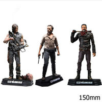 Action Figure TV The Walking Dead Rick Daryl Negan PVC 150mm toys model Boxed