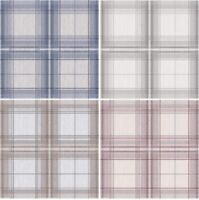 Arthouse Woven Check Wallpaper in Natural Grey, Red Cream, Blue Grey & Grey Whit
