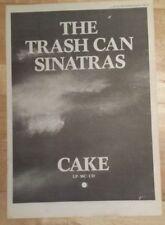 Trash Can Sinatras Cake  1990 press advert Full page 27 x 38 cm mini poster