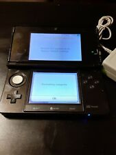 Nintendo 3DS Console Cosmo Black Metallic with charger & sd card TESTED WORKING