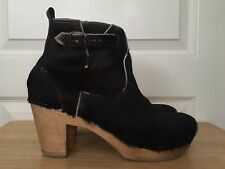 No 6 Pony Hair Clog Boot / Zipper & Buckle Size 40 - orig. over $600!